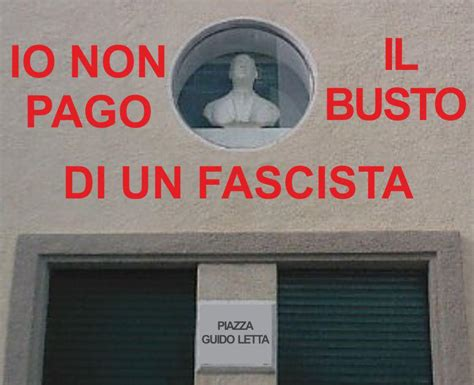 guido letta io non pago il busto fascista letta il fatto quotidiano