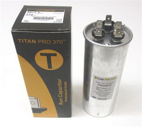 voltage on a run capacitor e5075 50 7 5 uf mfd 370 volt dual run capacitor ebay