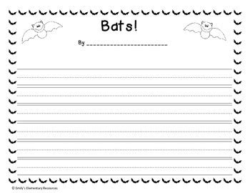 bat writing paper bat writing paper by emily s elementary resources tpt