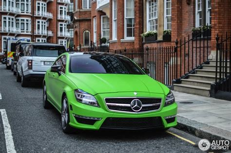 green mercedes matte green mercedes cls63 amg spotted in
