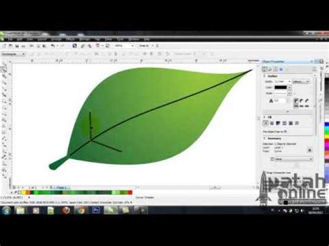 tutorial bunga coreldraw cara membuat daun bunga dengan coreldraw youtube