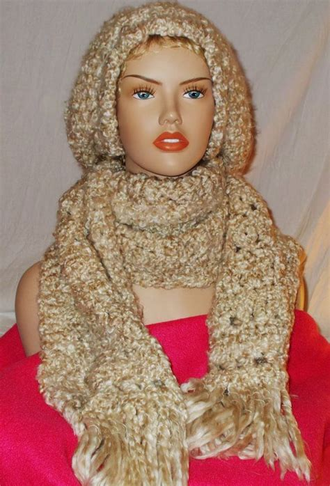 crochet hat pattern homespun yarn hat and scarf set crochet in thick soft heavy weight