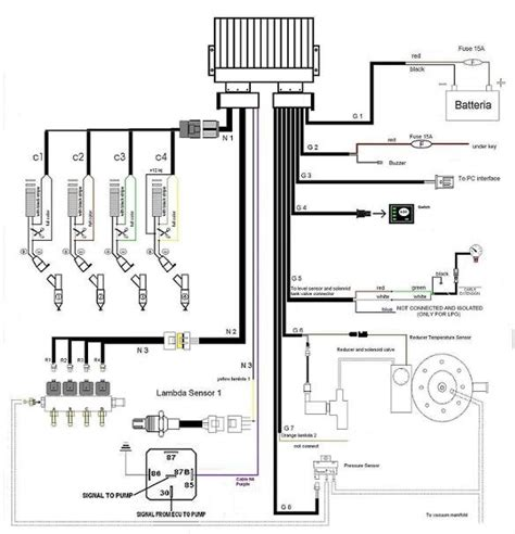 lpg wiring diagram lpg cng ecu for bi fuel system on 3 4 cylinders sequential injection engines of gasoline cars