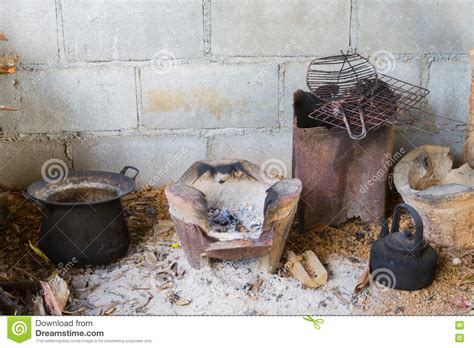traditional poor thai kitchen with kitchenware stock photo image 72536219