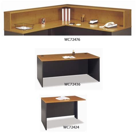 Reception Desk Hutch Bush Industries Wc72436 And Wc60336 L Shaped Reception Desk With Hutch