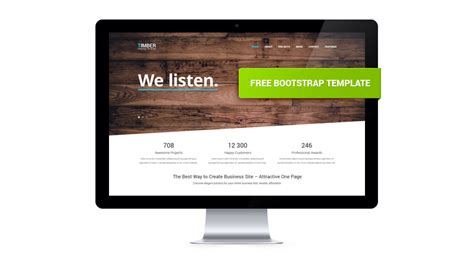 html one page template timber free one page bootstrap template gt3 themes