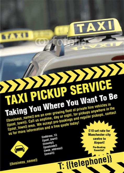 Free Taxi Flyer Templates