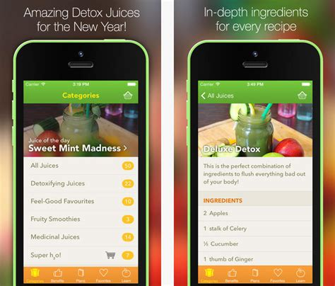 Detox App by Top 5 Iphone Apps To Make Your Own Home Made Juice Recipe