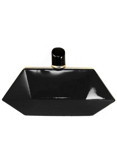 Jet Black Clutch Bag Semburart lydc black court bag black lipstick bag