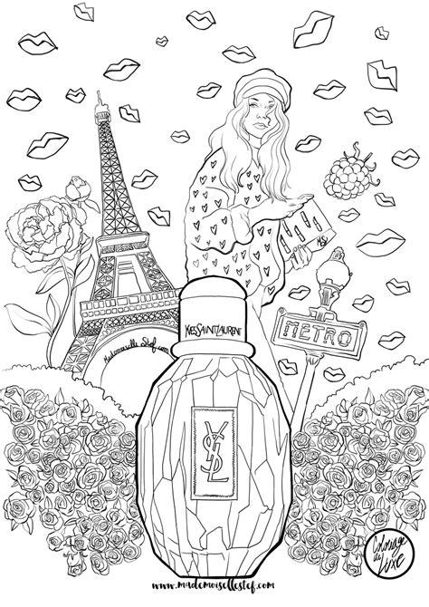 coloring book yves laurent coloriage parfum parisienne yves laurent i
