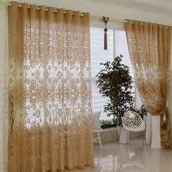 decorative sheer curtains are colored in coffee of