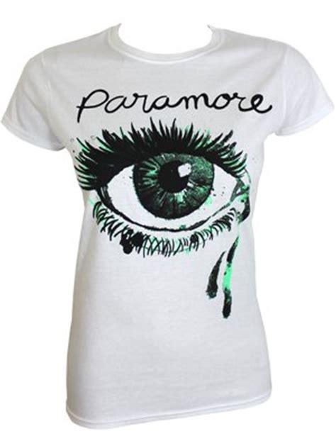 Kaos Band Paramore Merchendise Official 17 paramore eye white t shirt offical band