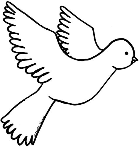 free coloring pages of how to draw a dove