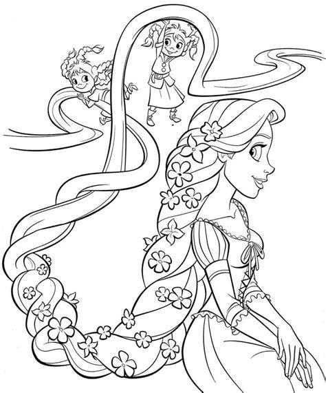 Free Coloring Pages Princess Rapunzel | printable free disney princess rapunzel coloring sheets