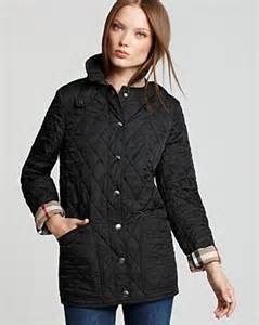 burberry brit fairstead quilted jacket in black lyst