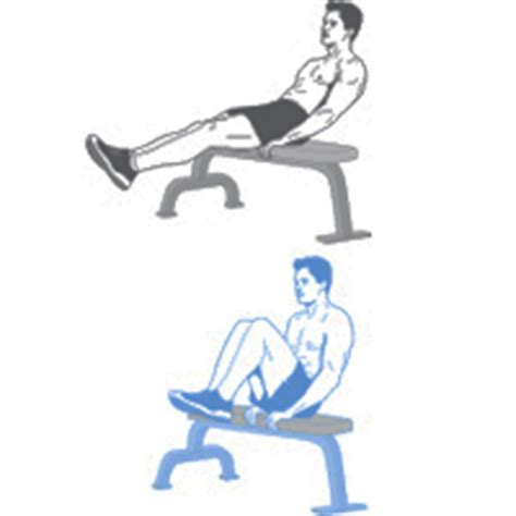 bench jackknife crunches seated abdominal crunches impersonal trainers
