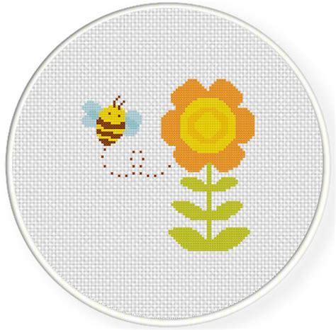flower pattern cross stitch bee and flower cross stitch pattern daily cross stitch