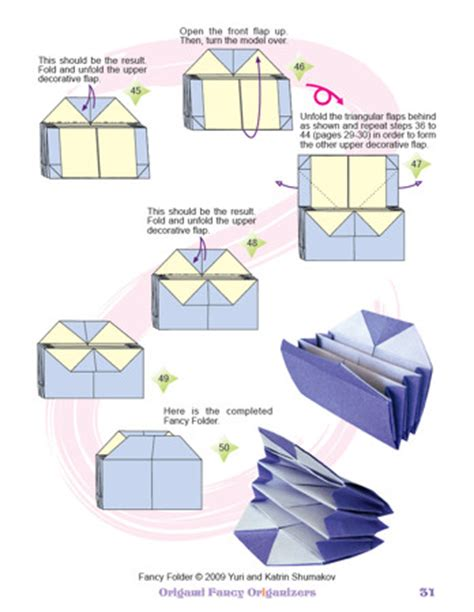 Origami Book Diagram - oriland origami fancy origanizers