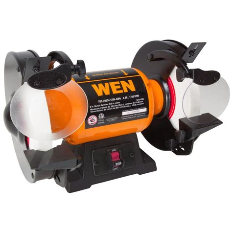 8 bench grinders wen 120 volt 8 in slow speed bench grinder 4286 the home depot