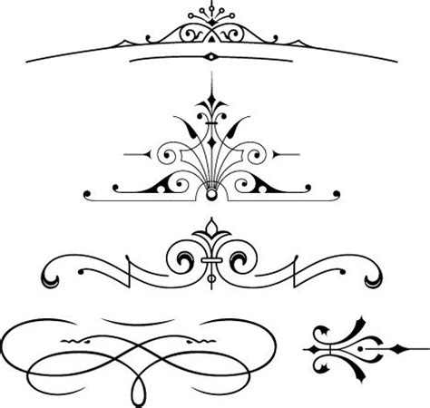 typography ornaments free font set of vector vintage ornaments free fonts deco style ornaments