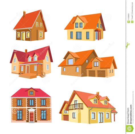 what are the different styles of houses set of houses stock vector image of house roof