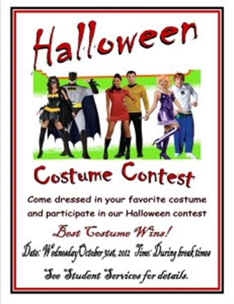 Free Halloween Costume Contest Flyer Template costume contest