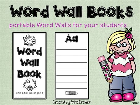 portable word wall template mrs bremer s class free spelling test templates