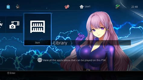 ps4 themes for psp akari anime dynamic theme on ps4 official playstation