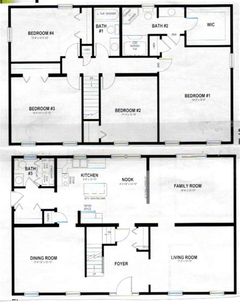 A Story House Floor Plan by Two Story House Plans