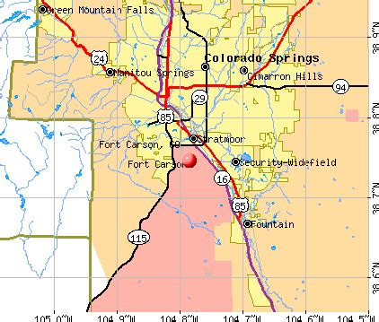 fort carson training area map fort carson map world map 07