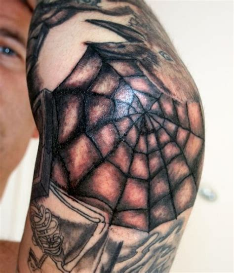 spider web tattoo designs elbow spiderweb designs on for design