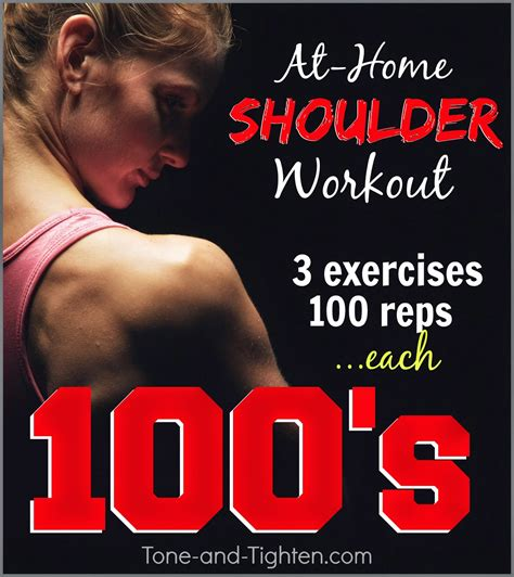 at home shoulder workout with weights tone and tighten