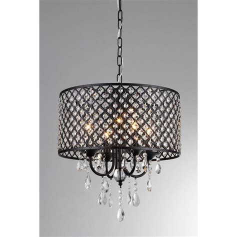 Home Depot Chandelier Shades Warehouse Of Branch 8 Light Chrome Chandelier With Black Shades Rl1070b The Home Depot