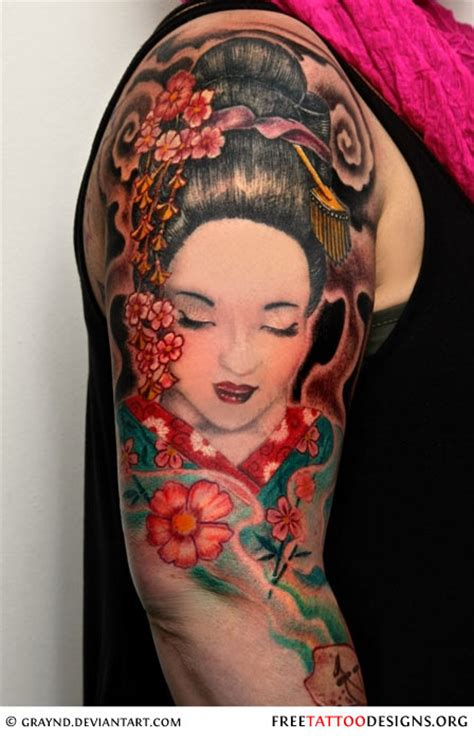 tattoo geisha arm geisha tattoos