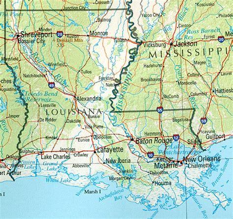 louisiana reference map