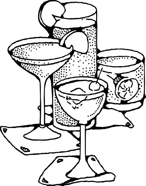 mixed drink clipart black and white bar drinks clip at clker com vector clip