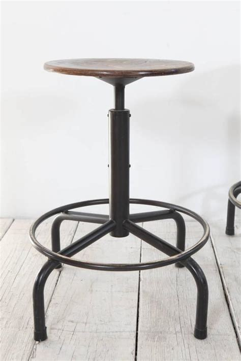 adjustable height metal stools metal and wood swivel adjustable height counter stool at