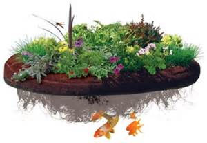 islandscapes floating island planter pond water ip200 koi