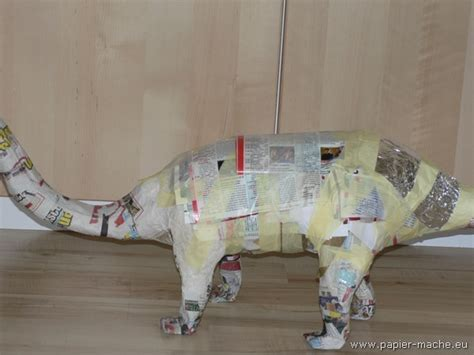 How To Make Paper Mache Dinosaur - dinosaur of papier mache