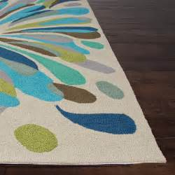 Blue And Green Outdoor Rug Jaipur Rugs Colours Flowerburst 7 6 X 9 6 Indoor Outdoor Rug Blue Green Ultimate Patio