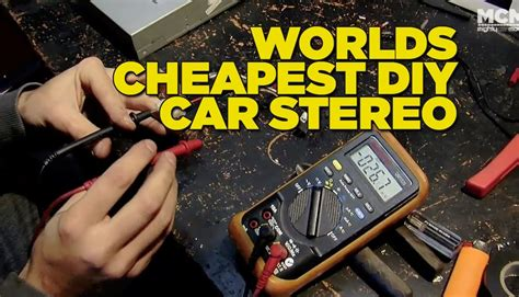 worlds cheapest diy car stereo youtube