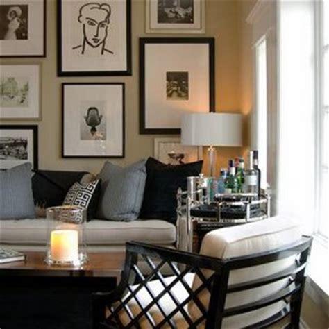 Beige And Black Living Room by Above Sofa Living Room David Jimenez