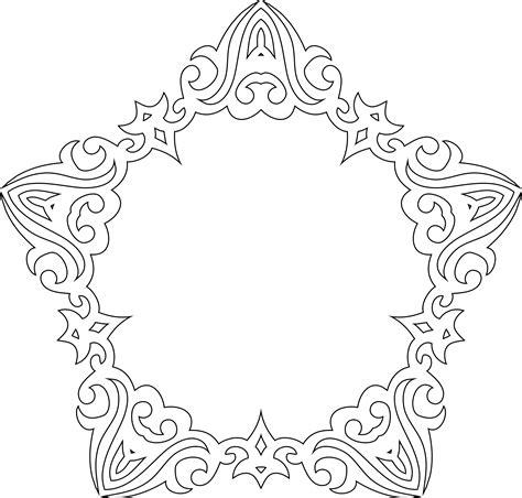 frame design line art clipart decorative line art frame 2