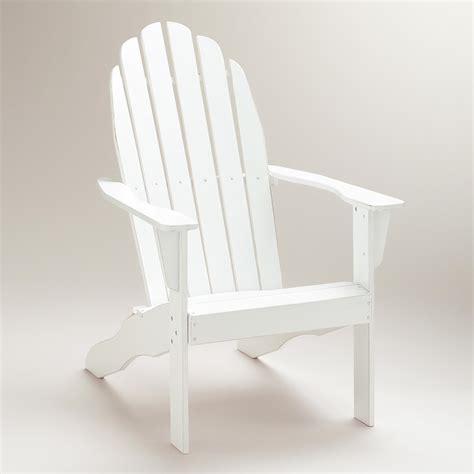 White Adirondack Chair by Antique White Classic Adirondack Chair World Market