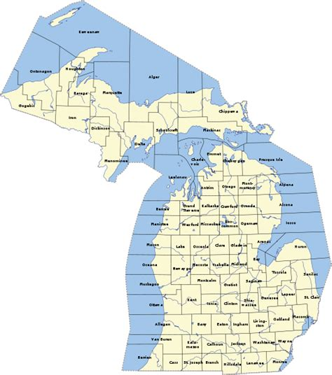 Costs Of Mba In Michigan by File Michigancounties Svg Wikimedia Commons