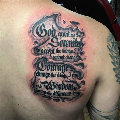 serenity tattoo 55 inspiring serenity prayer designs serenity