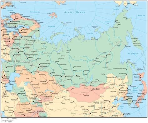 map of russia with the cities map of russia with cities