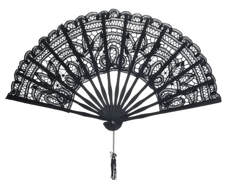 chinese fans for sale 11 quot black chinese folding lace hand fan for weddings on