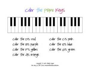 piano color color the piano sheet