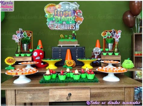 Plants Vs Zombies Birthday Decorations by Kara S Ideas Plants Vs Zombies Themed Birthday